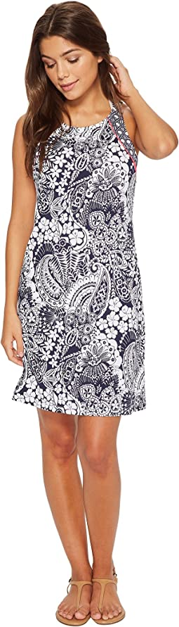 Paisley Paradise High Neck Halter Spa Dress Cover-Up
