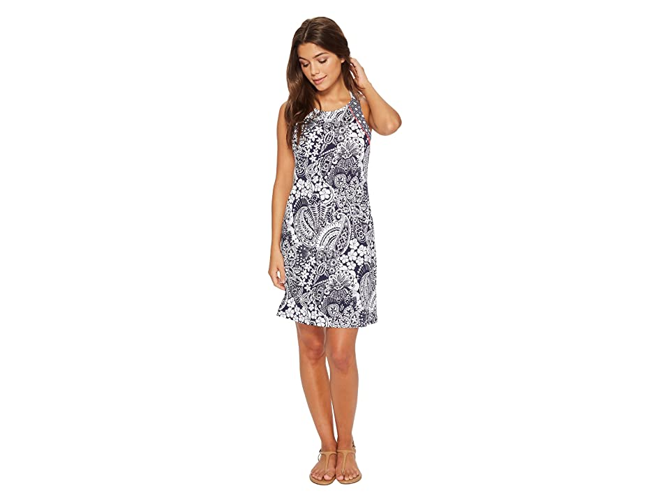Tommy Bahama Paisley Paradise High Neck Halter Spa Dress Cover-Up (Mare Navy) Women