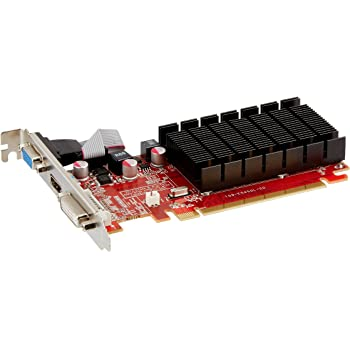 VisionTek Radeon 5450 2GB DDR3 (DVI-I, HDMI, VGA) Graphics Card - 900861,Black/Red