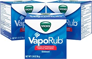 Vicks VapoRub Chest Rub Ointment for Relief from Cough, Cold, Aches, and Pains, with Original Medicated Vicks Vapor