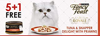 Purina Fancy Feast Royale Tuna And Snapper With Delight Prawn Wet Cat Food Can 85g (6 Cans)