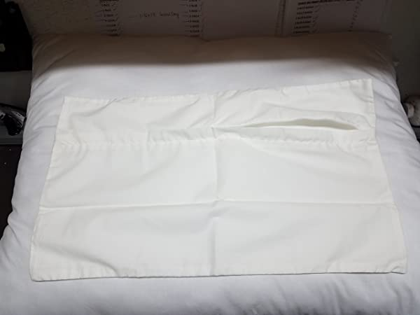 24x36 Inch White Cotton Blend Zippered Rectangular Throw Pillow Cover