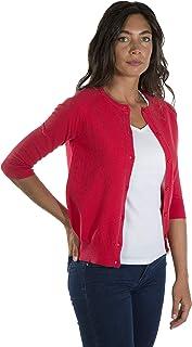 1c698b0c6145 MY BASIC Chaqueta de Algodon de Cuello Redondo para Mujer