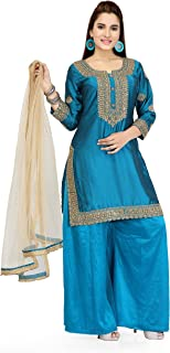 Festive Traditional Women's Plazzo Suit - Satin Georgette Fabric Ethnic wear