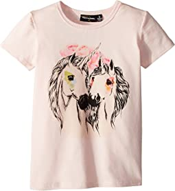Rock Your Baby Unicorn Love Short Sleeve Tee (Toddler/Little Kids/Big Kids)