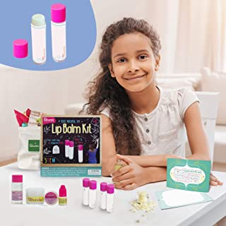 Kiss Naturals Lip Balm Kit - DIY for Kids Crafts Kit - 100% Natural and Organic Lip Balm Making Kit for Kids