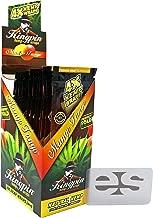 KingPin Pure Hemp Mango Tango Flavored Wraps (Box of 25 Packs, 4 Wraps Per Pack) with ES Scoop Card