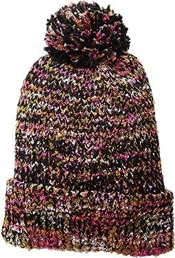KNH3603 Yarn Cuff Beanie w/ Pom