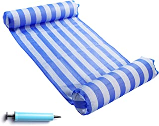 FindUWill Hammock Float Portable Swimming Pool Lounger with Inflatable Water Pillow (RoyalBlue)