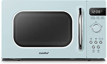 COMFEE' AM720C2RA-G Retro Style Countertop Microwave Oven with 9 Auto Menus Position-Memory Turntable, Eco Mode, and Sound On/Off (Pastel Green) 0.7Cu.Ft