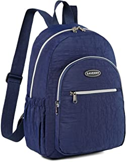 SAVERRY Lightweight Nylon Casual Daypack Small Backpack for Women and Girls