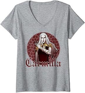 Femme Netflix Castlevania Carmilla Portrait T-Shirt avec Col en V