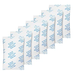WVacFre 5 Gram(100Packs) Food Grade Moisture Absorber Silica Gel Desiccant Packets for Storage,Desiccant Beads Silica Gel Packs for Moisture Control
