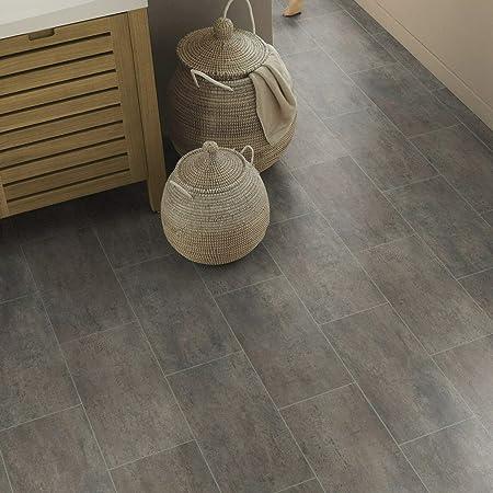 9,50 /€ p. m/² PVC Bodenbelag Tarkett 150 Fliese Grey Melbourne Breite: 200 cm x L/änge: 350 cm