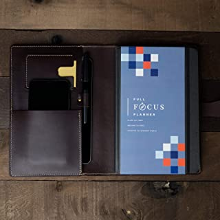 Leather Journal Cover for Full Focus Planner/Wickett & Craig Full Grain Leather/Handmade in USA
