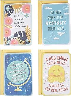مجموعة متنوعة من بطاقات التفكير في هولمارك لك، والمسافة الاجتماعية (4 بطاقات ومظاريف لكوفيد، أوقات صعبة) (799RZC1031)