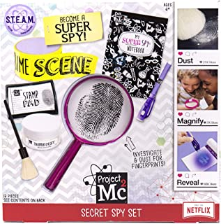 Project MC2 Pretend Play Super Spy Stem Science Kit by Horizon Group Usa, Includes Detective Finger Print Identification Set, Crime Scene Tape, Magnifying Glass, Spy Notebook & More