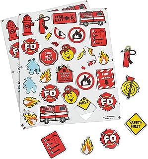 Fun Express Fire Safety Foam Shapes - Craft Supplies - Foam Shapes - Regular - 300 Pieces