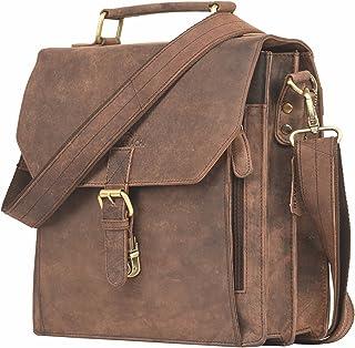 LEADERACHI Unisex Hunter Leather Crossbody Messenger Bag | Office Bag | Travel Bag| Messenger Bag | Laptop Bag |