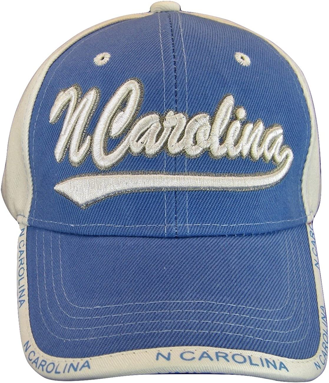 North Carolina Adult Size Curved Cap Max 41% OFF Baseball Spring new work one after another Brim Adjustable