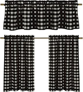 Admirable Amazon Com Plaid Valances Tiers Swags Valances Home Download Free Architecture Designs Estepponolmadebymaigaardcom