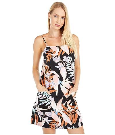 Billabong Straight Round Dress (Off-Black) Women