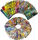 100pcs Cartes Francais, Amusant Flash Card, GX Flash Trading Puzzle Tag Team Cartes, Cadeaux de Noël et Cadeaux d'anniversaire pour Enfants