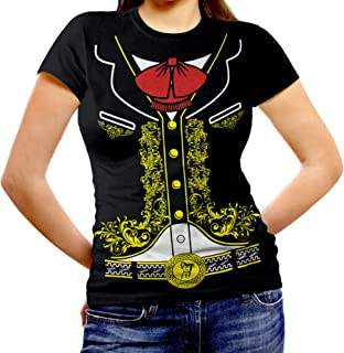 Women's Mexican Mariachi Charro Halloween Costume Cinco de Mayo Fitted T-Shirt