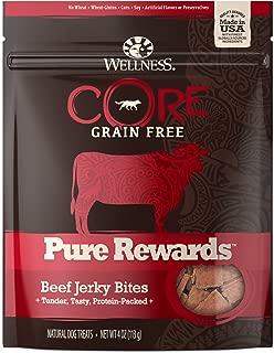 Wellness Core Pure Rewards Natural Grain Free Dog Treats, Soft Jerky Bites, 4-Ounce Bag