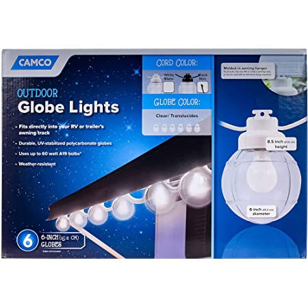 Camco 42780 Globe Lights Replacement Globe Blue