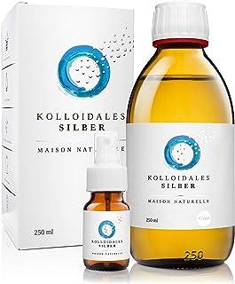 MAISON NATURELLE ® – Kolloidales Silber 40 PPM (250 ml) – Silberwasser +..