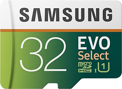 SAMSUNG (MB-ME32GA/AM) 32GB 95MB/s (U1) microSDHC EVO Select Memory Card with Full-Size Adapter
