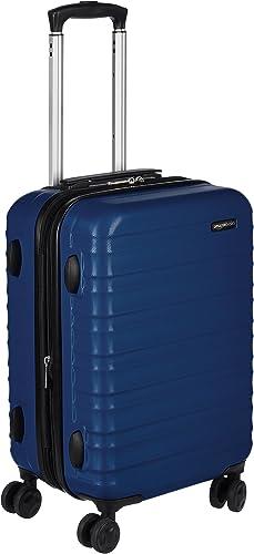 Amazon Basics Valise de voyage à roulettes pivotantes, Bleu marine, 55 cm