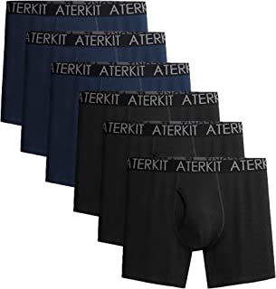 Mens Boxer Briefs for Men Pack of 6 Comfortable Tagless Underwear with Open Fly