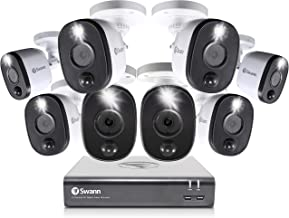 Swann Home Security Camera System, 8 Channel 8 Bullet Cameras, 1080p HD DVR, Indoor/Outdoor Wired Surveillance CCTV, Night...