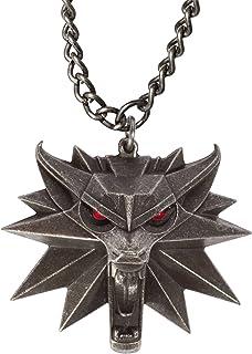 Witcher 3 Caccia Selvaggia medaglione a catena con gli occhi a LED in metallo 80 centimetri
