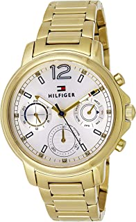 Tommy Hilfiger Women's Casual Quartz Watch with Stainless-Steel Strap, Tone, 10 (Model: 1781742)