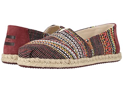 TOMS Alpargata on Rope (Cherry Tomato Global Woven) Women