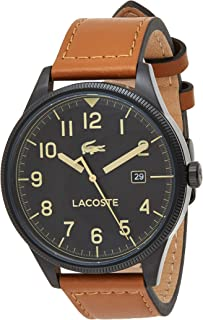 Lacoste Mens Quartz Watch, Analog Display and Leather Strap 2011021