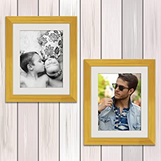 ArtzFolio Wall & Table Photo Frame D526 Golden 8x10inch;Set of 2 PCS with Mount