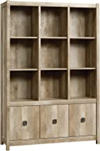 Sauder Cannery Bridge Storage Wall, L: 48.31 x W: 15.59 x H: 71.97, Lintel Oak finish