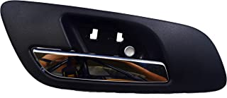 PT Auto Warehouse GM-2546MA-FL - Inside Interior Inner Door Handle, Black (Ebony) Housing with Chrome Lever - without Hole, Driver Side Front