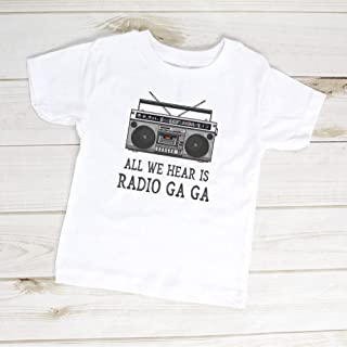 All We Hear Is Radio Ga Ga Queen Band Toddler Shirt, Freddie Mercury, Radio GaGa Toddler, Classic Rock Kids Band T-Shirt, Cool Toddler Gift For Men For Women