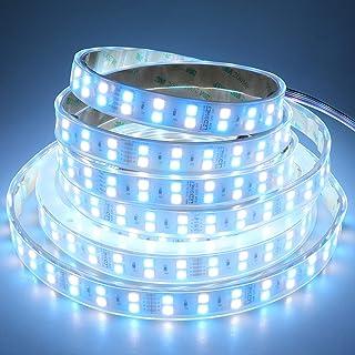 LEDENET Double Row DC 24V 600LEDs/spool 5m RGB+Cold White (6500k-7000K) 5050 SMD Waterproof RGBW LED strip lights in silic...