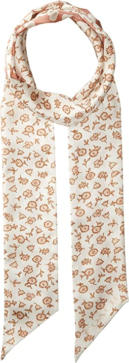 COACH - Love Floral Skinny Scarf