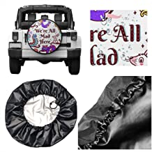 Spare Tire Cover Mad Alice in Wonderland Universal Waterproof Dust-Proof Wheel Covers