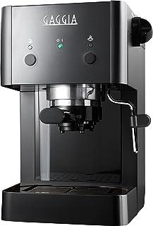 Gaggia GG 2016 Independiente Máquina espresso Negro 1 L Manual - Cafetera (Independiente, Máquina espresso, 1 L, De café molido, 950 W, Negro)