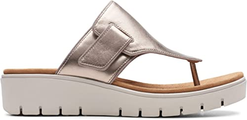 Clarks Un Karely Sea Sea Sea damen Toe Post Sandals 4.5 D (M) UK  37.5 EU Gold Metallisch  erstklassige Qualität