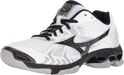Mizuno Wave Bolt 7 Volleyball chaussures, blanc noir, Wohommes 9 B US