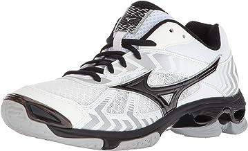 حذاء كرة الطائرة Mizuno Wave Bolt 7، أبيض/أسود، للسيدات 10 B US